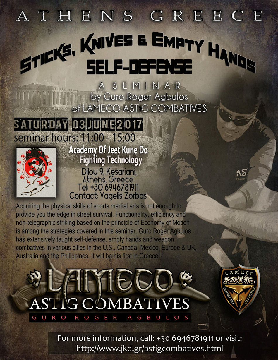Lameco Astig Combatives Athens Greece