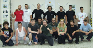 "Russian Martial Art Seminar ""The Clinch Game: Control & Dirty Boxing"" with the instructor Vasilis Stamatiou."